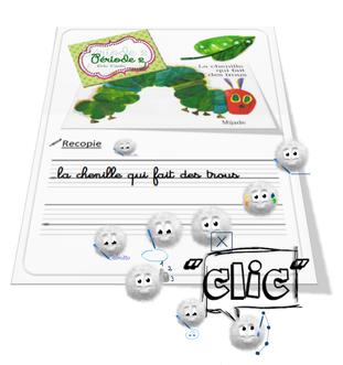 """""""La chenille qui fait des trous"""" version Calmittos"""
