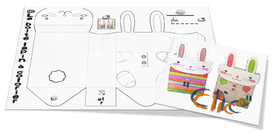 Deux petits lapins pour le marché de Pâques...