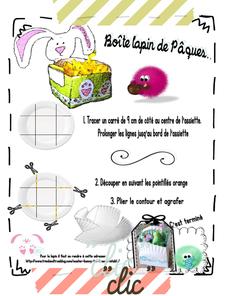 La Boîte lapin avec une assiette en papier...