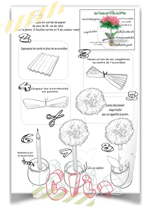 Fleur en papier pour les Mamans
