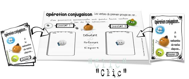 Opération conjugaison (les verbes du premier groupe au présent )