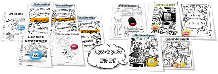 Les pages de garde 2016-2017