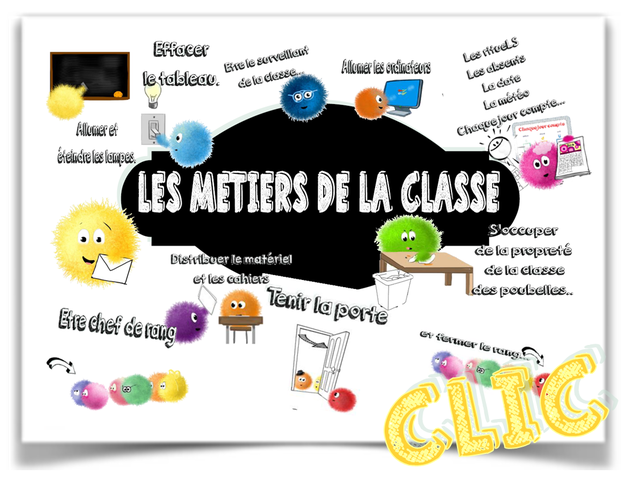 Les métiers de la classe Calmittos ;)