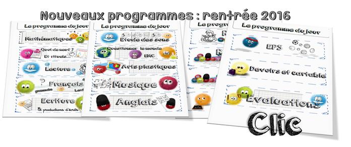 Programme Calmittos du jour (rentrée 2016)