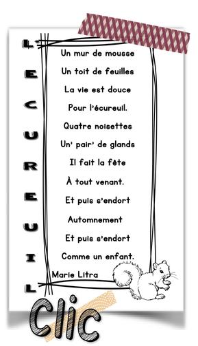 """Poésie d'automne """"l'écureuil"""""""
