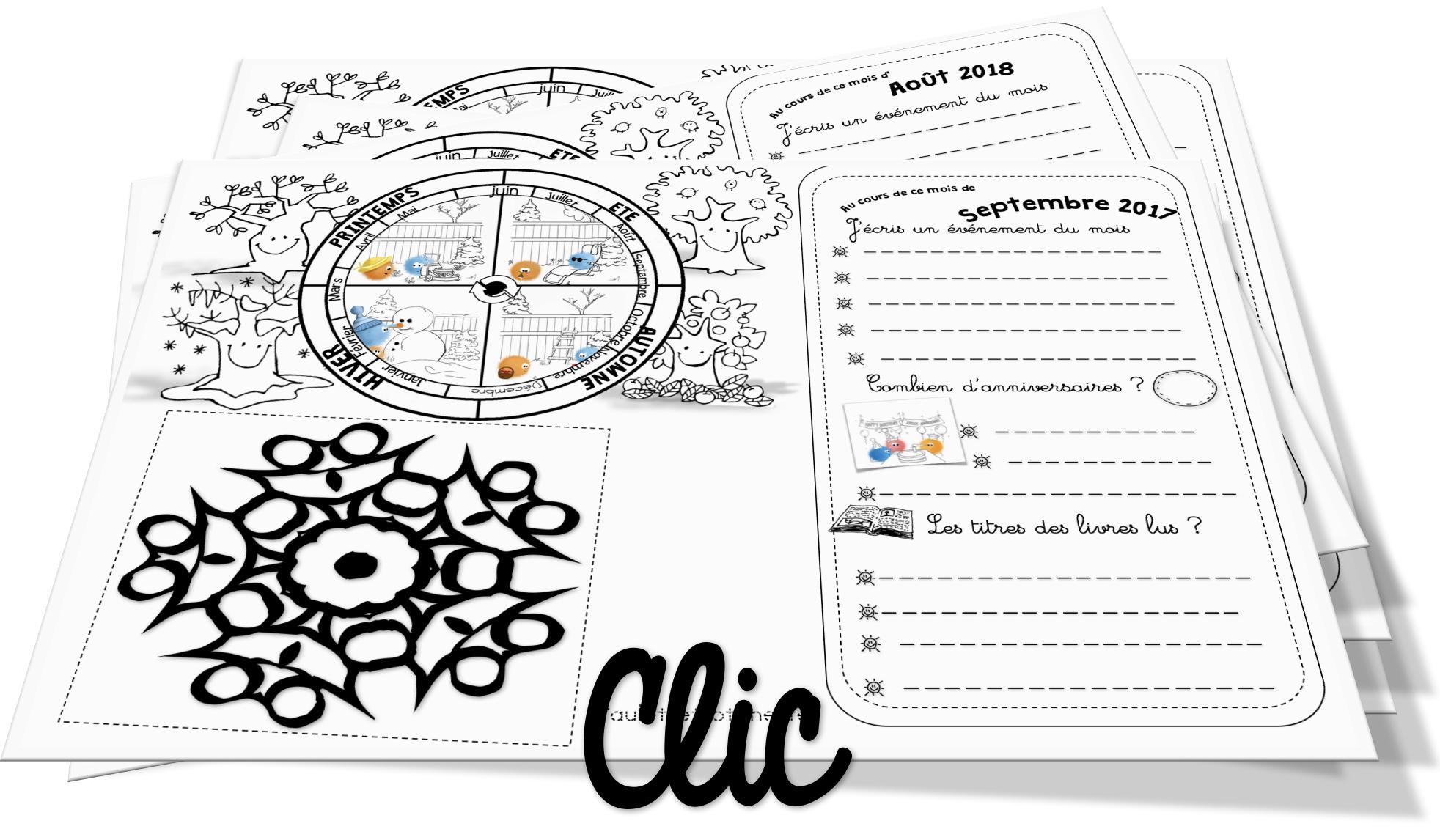 Lire Un Calendrier Ce1.Le Calendrier 2017 2018 A Repasser Version Ce1